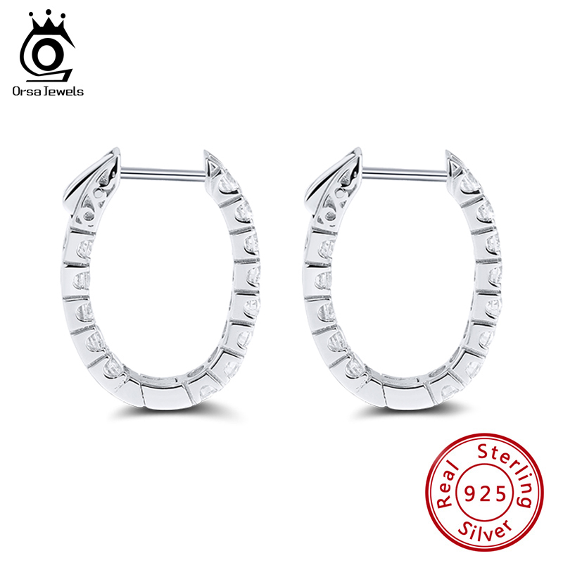 Cy-Trendy 925 Sterling Silver Plated Fashion Classic Big Hoop Drop Dangle Earring