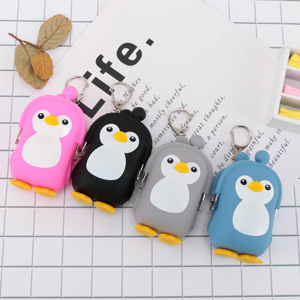Purse-Keys Penguin Silicone Wallet Coin-Bag Gift Animal Girls Kids Cartoon Women Cute