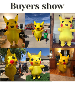 Image 4 - Yellow Inflatable Costume Anime Cosplay Mascot Carnival Fantasy Halloween Costumes for women Adult Kids