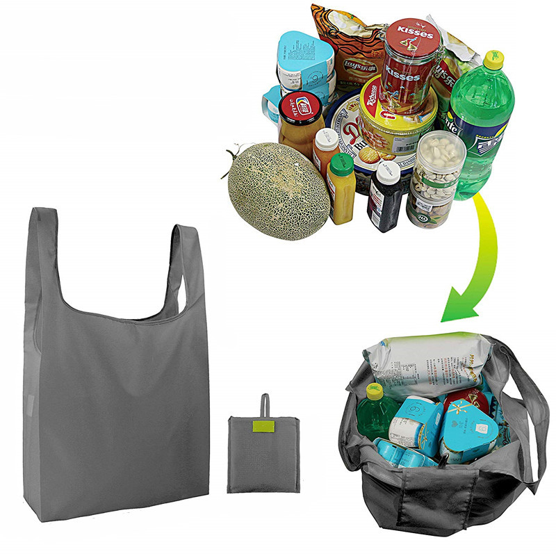 1 Pieces Portable Hot Sale Fashion Foldable Green Shopping Bag Tote Pouch Large-capacity Oxford Waterproof Ripstop Shoulder Bag