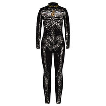 Children Kids Print Scary Costume Skinny Jumpsuit Bodysuit Halloween Cosplay Suit Stretchy Star Gift Outfit Femme COS Top(China)