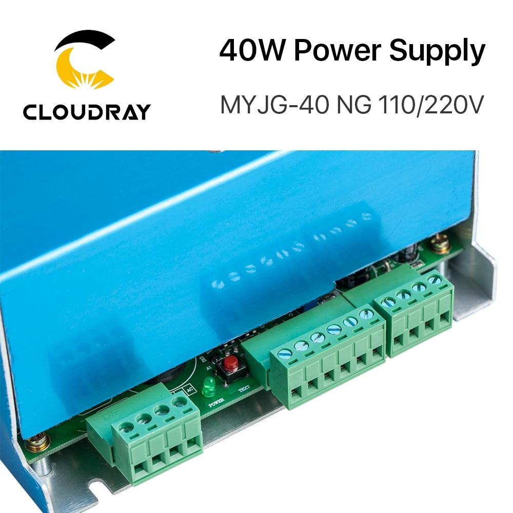 Fuente de alimentación de láser de CO2 Cloudray 40W MYJG-40T 110V - Piezas para maquinas de carpinteria - foto 3