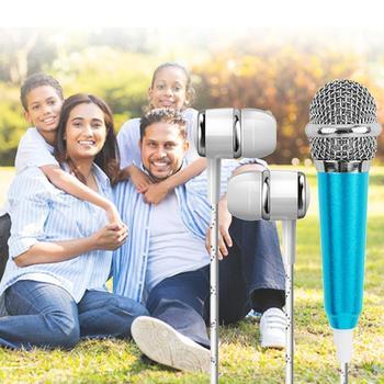 Mini mikrofon pojemnościowy mikrofon do Karaoke przewodowy mikrofon kondensator komputer do telefonu Dropshipping PC niebieski mikrofon Handhel T4R1 tanie i dobre opinie CUJMH Mikrofon na gęsiej szyi Konferencja mikrofon Pojedyncze Mikrofon Jednokierunkowy DEJ0937 Mini microphone