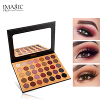 IMAGIC 35 color nude shiny eye shadow palette waterproof Long-lasting tray pigment pearl matte cosmetics