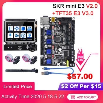 BIGTREETECH SKR mini E3 V2.0 Control Board With TMC2209+TFT35 E3 Touch Screen 3D Printer Parts For Ender 3/5 Pro CR10 SKR V1.4