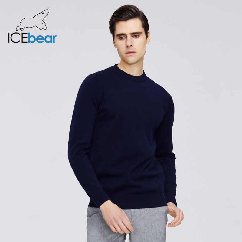 ICEbear 2020 새로운 남성 봄 스웨터 캐주얼 o 목 스웨터 비즈니스 캐주얼 품질 남성 의류 A-31