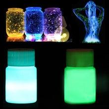 20g fluorescente noite running corpo luminoso pintura brilho no escuro acrílico luminoso pigmento brilhante diy ferramentas de unhas luminosas