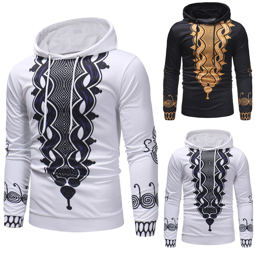 2020 New African Dresses For Men Print Rich Bazin Long Sleeve Hoodies Mens Africa Fashion Tops M-3XL Dashiki Clothes