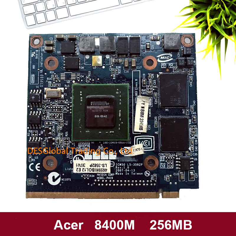 For Acer Aspire 7520G 7520 7720 7720G Series Laptop GeForce 8400 8400M GS DDR2 256MB VGA Graphics Video Card 100% Working image