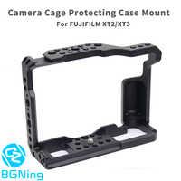Di Alluminio di CNC Gabbia Fotocamera per Fujifilm X-T3/XT3/XT2/X-T2 DSLR Fotografia Stabilizzatore Rig Custodia protettiva Rapido supporto a sgancio rapido