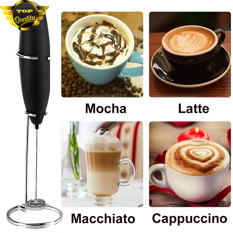Electric Milk Frother Automatic Handheld Foamer Coffee Maker Egg Beater Milk Frother Portable Kitchen Coffee Whisk Tool