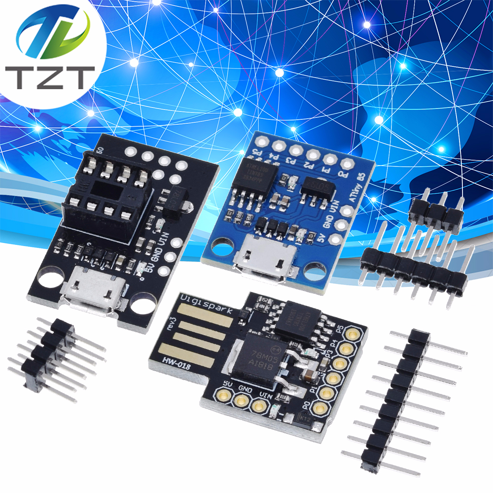 Синий черный TINY85 Digispark Kickstarter микро макетная плата ATTINY85 модуль для Arduino IIC IEC USB