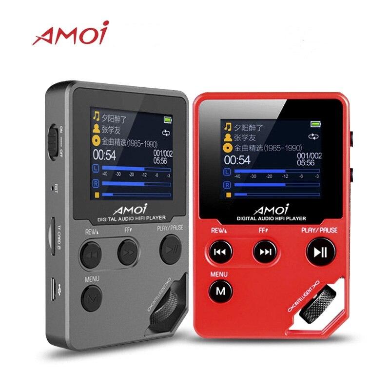 Музыкальный плеер Amoi C10, Hifi плеер с поддержкой MP3, HD, без потерь, миниатюрный спортивный, для бега, DAC радио, FM, TF, DSD, электронная книга, стерео ре...