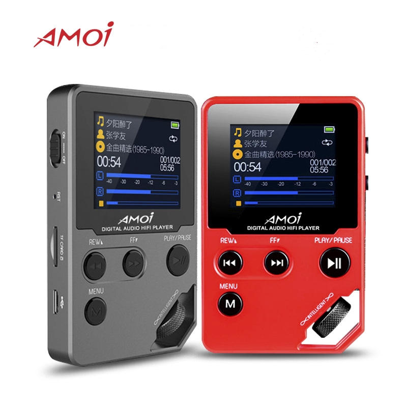 Amoi C10 Hifi <font><b>MP3</b></font> Music <font><b>Player</b></font> <font><b>HD</b></font> Lossless Mini Sports jogging DAC radio FM TF DSD Ebook stereo Recorder trackwheel walkman image