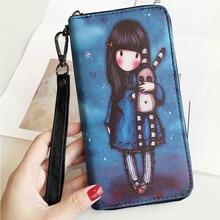Fashion Long wallet ladies zipper clutch bag handbag leather wallet mobile phone bag Carteira Portfel Cartera Mujer Purse