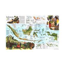 150x225cm Indonesia Map Peta Pendidikan Sekolah Siswa Dekorasi Kantor