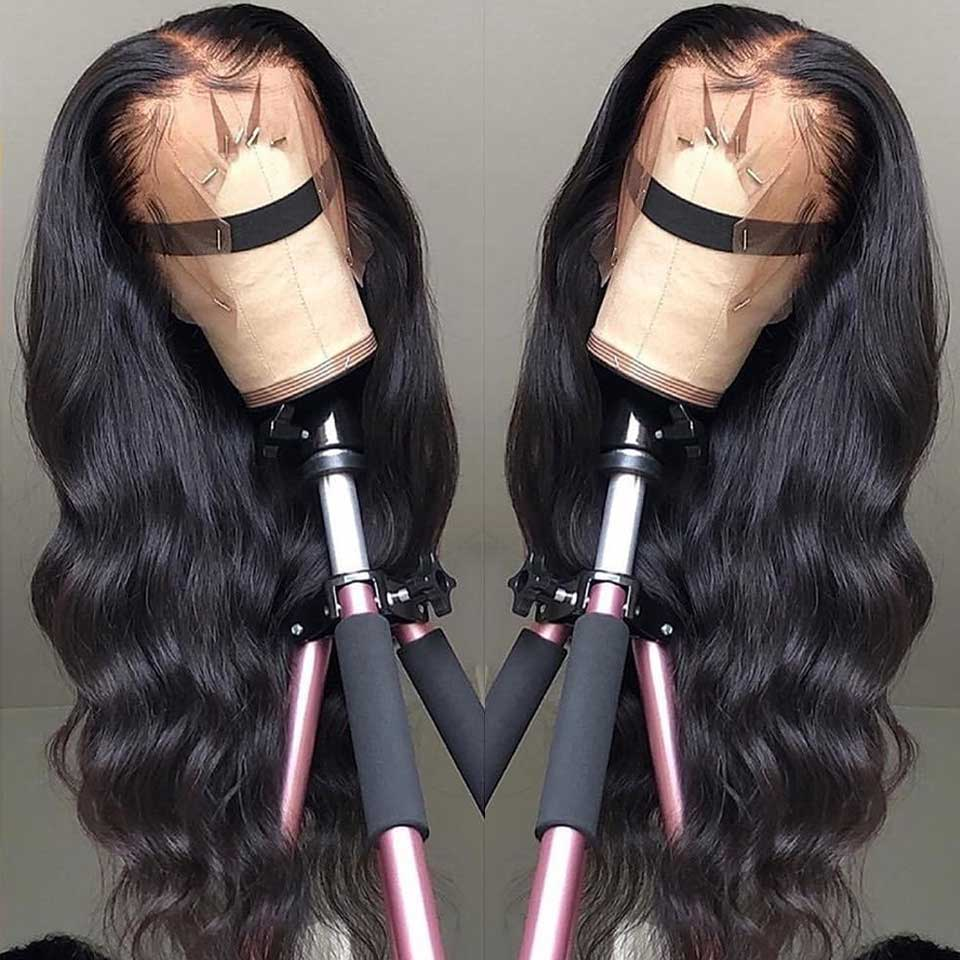 13*4 Lace Front Human Hair Wigs Pre Plucked Non Remy Free Part Brazilian Body Wave Lace Front Wig With Baby Hair For Black Women