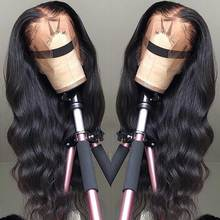 13*4 Lace Front Human Hair Wigs Pre Plucked Non Remy Free Part Brazilian Body Wave Lace Front Wig With Baby Hair For Black Women цена