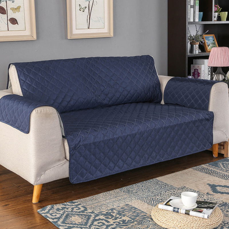 <font><b>Sofa</b></font> Couch Cover Pet Dog Kids Mat Furniture Protector Reversible Removable Armrest Slipcovers For 1/2/3 Seater <font><b>Sofas</b></font> Living Room image