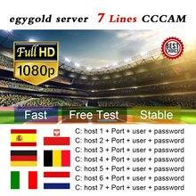 Cabo lineas para europa egygold ccam 7 linhas satélite DVB-S2 para gtmedia v8 nova v7s v9 super freesat