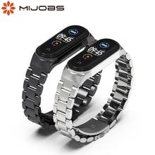 Dla Mi Band 5 pasek dla Mi Band 6 bransoletka Correa opaska na nadgarstek do Xiaomi Miband 3 4 5 6 metalowy pasek Pulseira Smart Watch