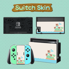 Switch Vinyl Protective stickers skins Set Animal Crossing Skin for nintend switch Console+Joy Con Controller+Stand Accessories