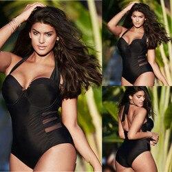 MUQGEW Plus Size Swimwear Um Pedaço Swimsuit Mulheres Monokini Sem Encosto Maiô Bodysuit Esporte Praia de Banho Terno de Natação купальник