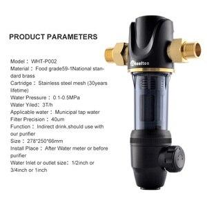 Image 5 - Wheelton Pre Water filter mechanical backwashing protect appliance(reverse osmosis water purifier,heater,etc.) 40UM purification