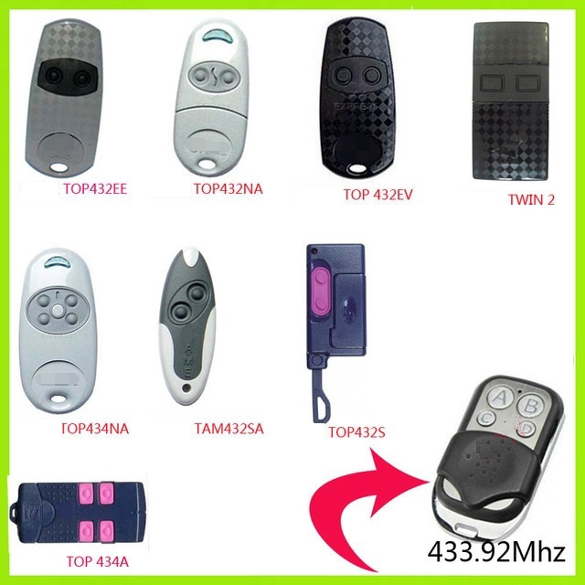 433.92 Mhz Duplicator Copy CAME Remote Control For TOP 432NA TOP-432NA TOP432EV Universal Garage Door Gate Key Fob Fixed Code