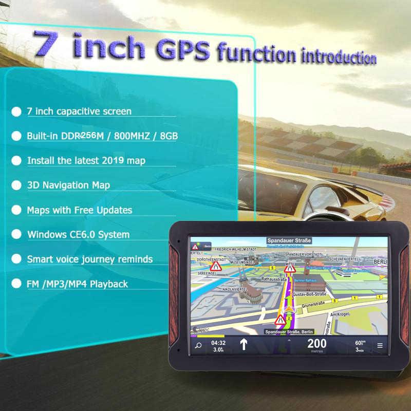 "Anfilite 7 ""HD Auto GPS Navigatie FM mp3 mp4 Navitel 2019 nieuwste Europa Kaart Sat nav Truck gps navigators automobiel"