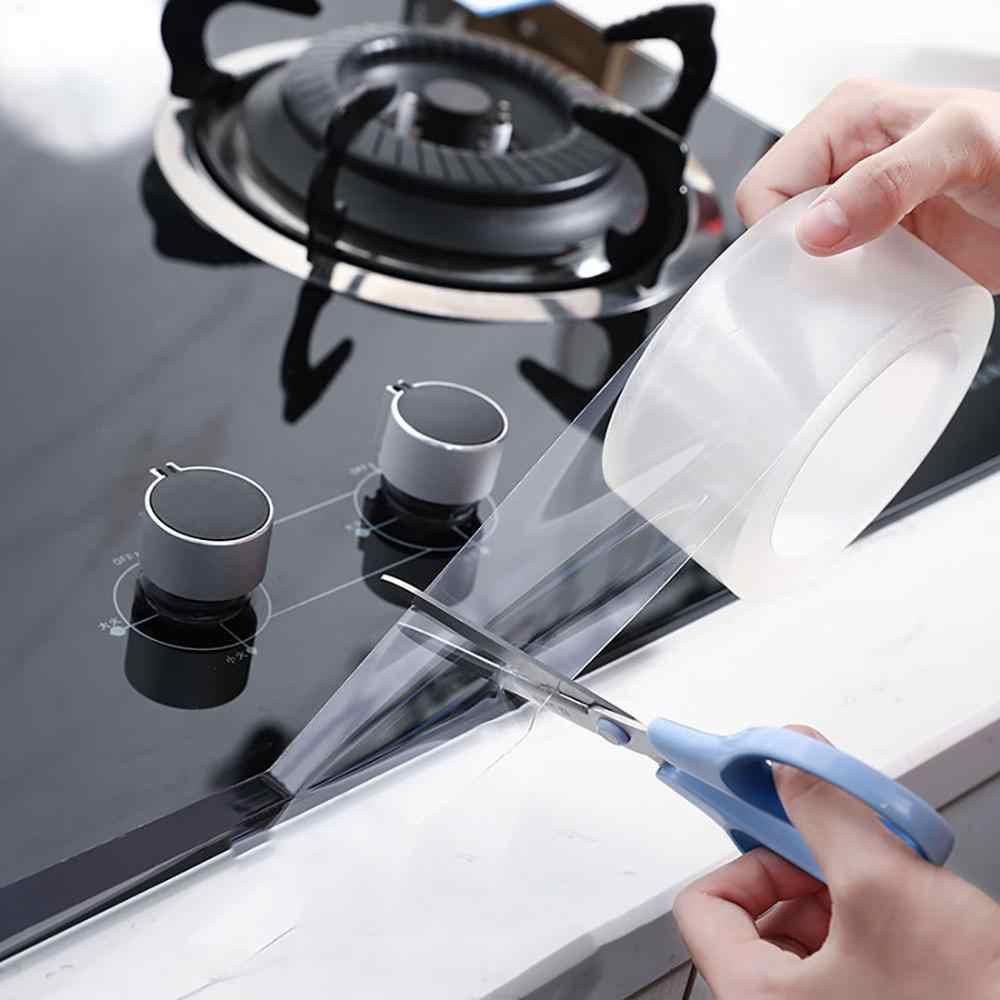 Прозрачная плитка для ремонта кухни, клейкая лента, самоклеящаяся, водостойкая, для ремонта раковины, края ванны, ванной комнаты