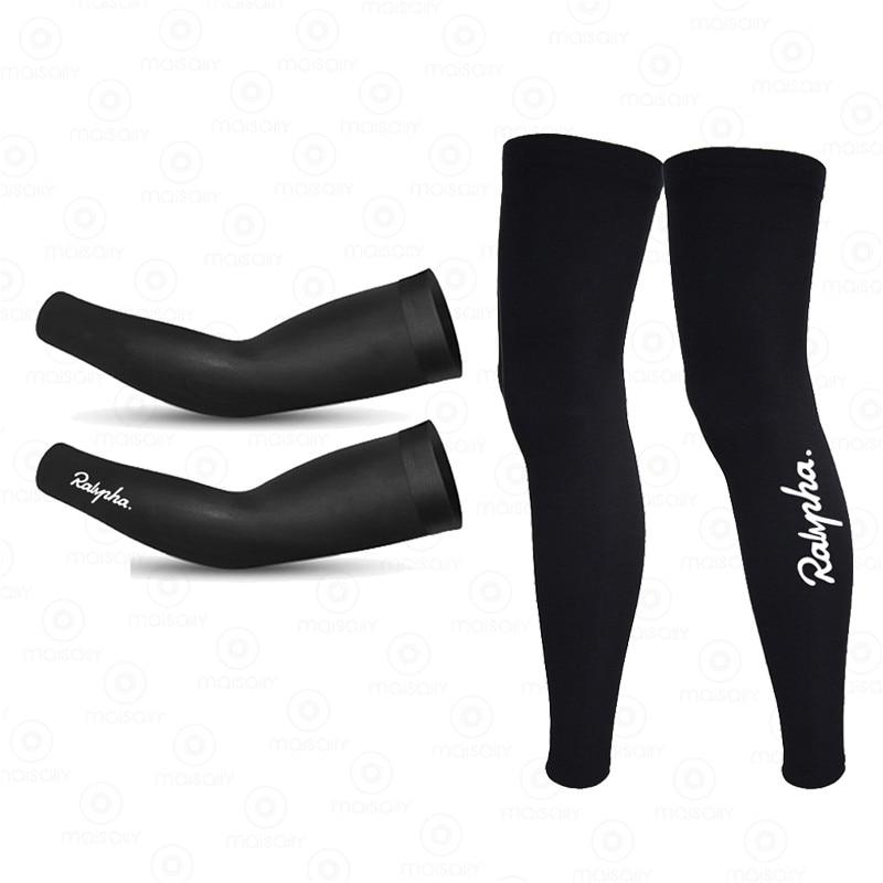 Ralvpha 2021 New Cosmic Leg Warmers Black UV Protection Cycling Arm Warmer Breathable Ralvpha Running Racing MTB Bike Leg Sleeve