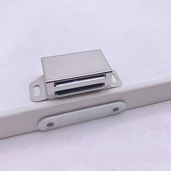 100pcs Stainless Steel Magnetic Cabinet Catches Push to Open Touch Kitchen Door Stop Damper Buffers With Screws For Hardware