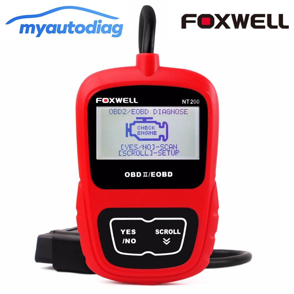 Narzędzia motoryzacyjne OBDII/EOBD uniwersalny samochód skaner diagnostyczny OBD 2 FOXWELL NT200 silnik samochodowy narzędzie czytnik kodów CAN