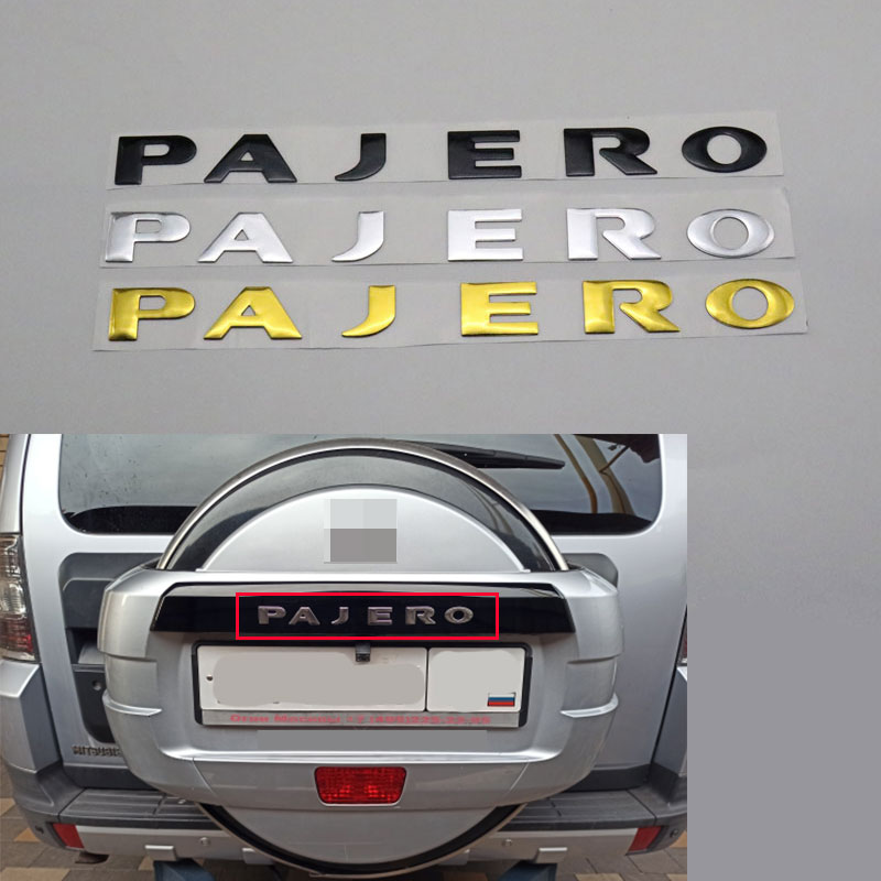 New For Mitsubishi Pajero V31 V32 V33 Letters Rear Boot Trunk Tailgate Emblem Badge Logo Nameplate