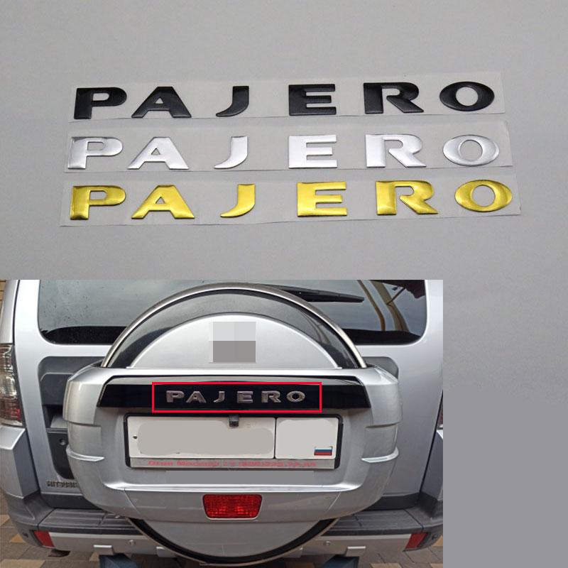 Nowy dla Mitsubishi Pajero V31 V32 V33 litery na tylny bagażnik bagażnika klapa znaczek z symbolem Logo tabliczka znamionowa