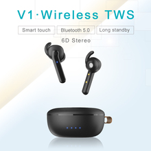 Wireless TWS Bluetooth v5.0 Sports Headset Bluetooth Headset Apple Headset Smart Headset Fashion Headset Colour Headset Smart To цена 2017