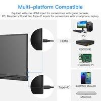 "pc עם Eyoyo EM15H Portable Gaming צג 15.6"" עם HDR USB-C HDMI 1080P תצוגת המסך השני עבור PS3 נייד PC Xbox / 4 החלף WiiU (5)"
