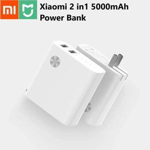 Image 1 - Xiaomi 2 em 1 carregador original, 5000mah, dual usb, carga rápida, 5v 3a, 5v 2.4a powerbank para iphone e samsung, telefone celular