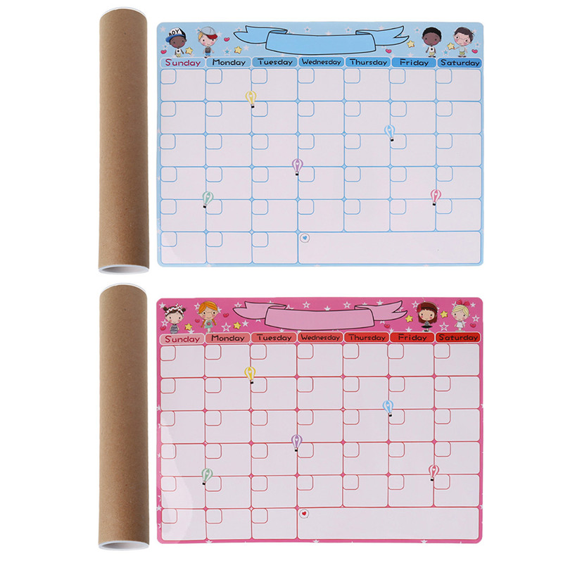 Cute Monthly Planner Magnetic Whiteboard Fridge Magnet Message Board Remind Memo School Office Supplies C26