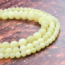 Wholesale Fashion Jewelry Frosted Yellow Lemon 4/6/8/10 / 12mm Suitable For Making Jewelry DIY Bracelet Necklace