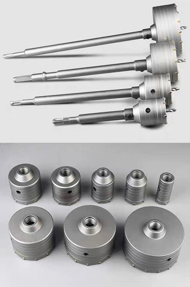 SDS PLUS 30-160mm Concrete Hole Saw Electric Hollow Core Drill Bit Shank 110-530mm Cement Stone Wall Air Conditioner Alloy