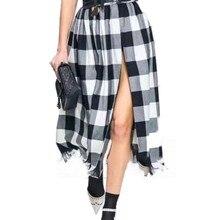 Falda plisada de mujer/dibujos animados/tul/Midi/oficina/terciopelo/malla/tela escocesa/cintura alta/gótica/envoltura/Vadim falda Otoño/Invierno moda 2019