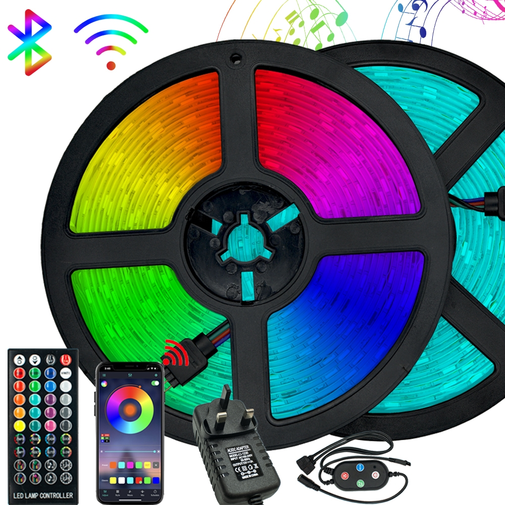 LED Light Bluetooth Control Led RGB 5050 SMD 2835 Flexible Ribbon Waterproof DC 12V 5M 10M 15M Home Decor Color Changing Lights