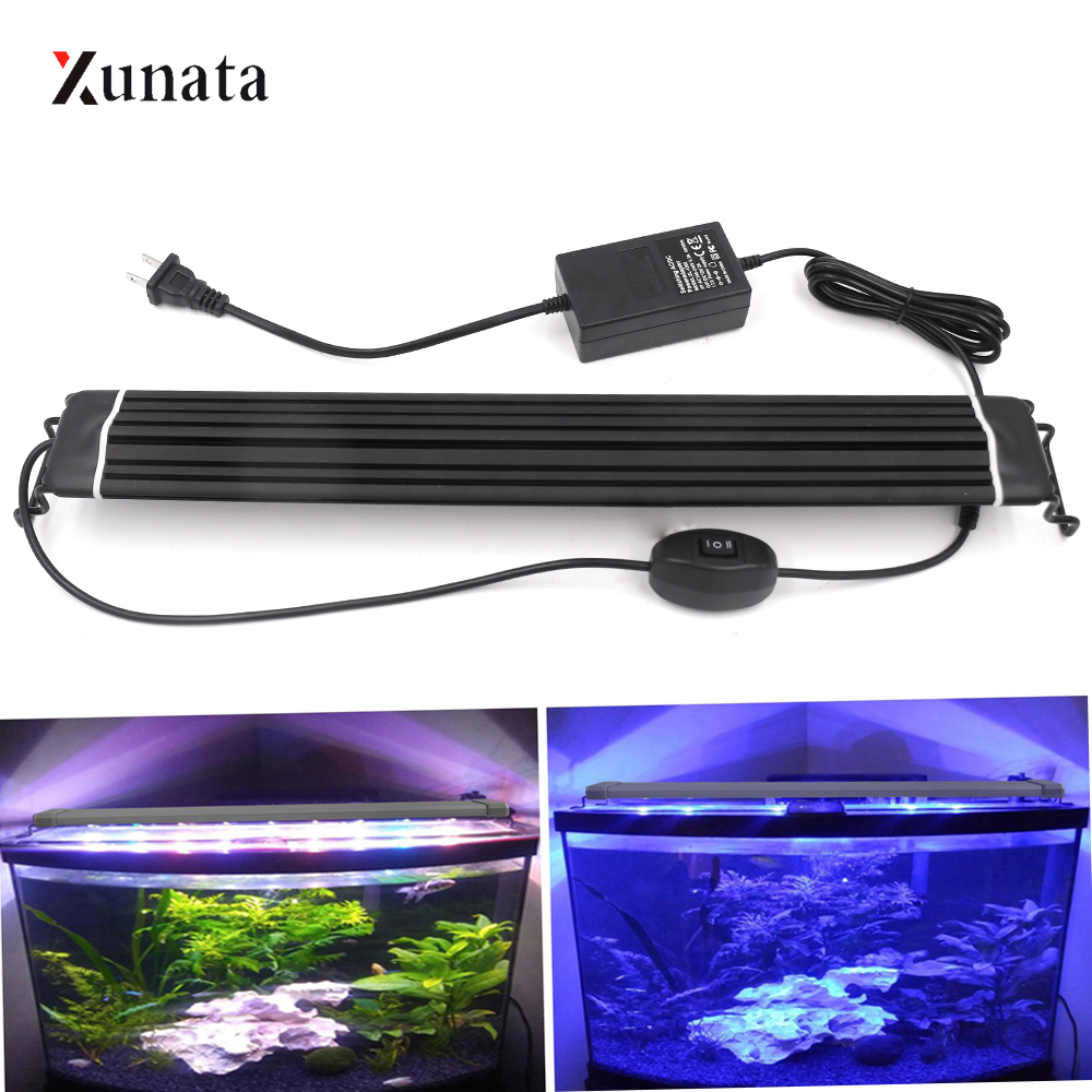 LED Aquarium Lighting Aquatic Plant Grow Light Waterproof LED Overhead Fish Tank Aquatic Light Freshwater Lamp EU/US/AU/UK Plug