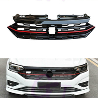 Front Grille For VW Jetta MK7 / Sagitar 2019 2020 2021 Black Front Honeycomb Bumper Grille GLI Style Grill Glossy Racing Grills