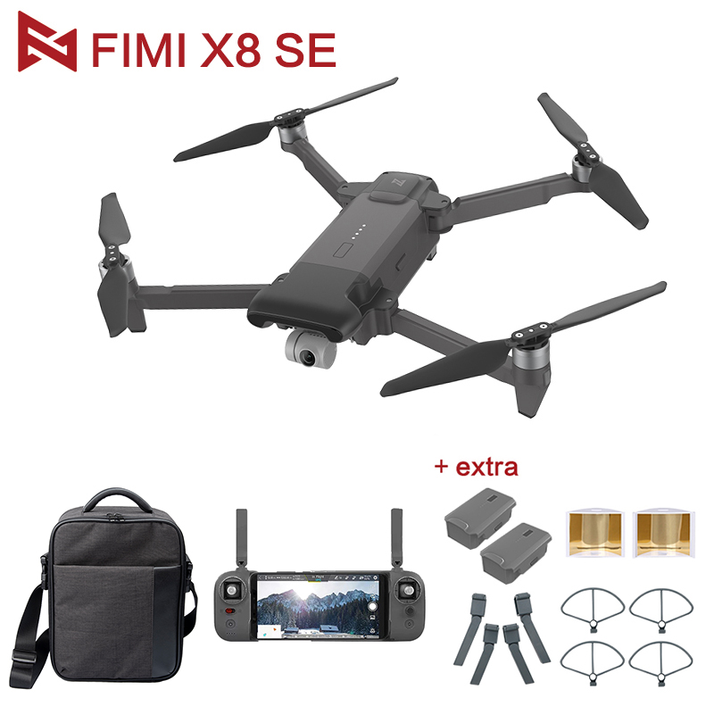 IN STOCK Wholesale Original FIMI X8 SE RC Drone With 4K HD Camera 5KM FPV 33mins Flight RTF Battery Landing Parts Gifts IN STOCK