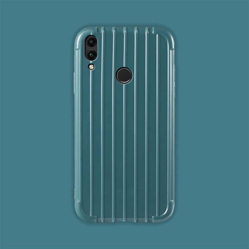 """Bagage de luxe pour huawei honor 8C étui mode mignon valise coffre téléphone Silicone couverture arrière pour huawei honor 8C Coque 6.26"""""""