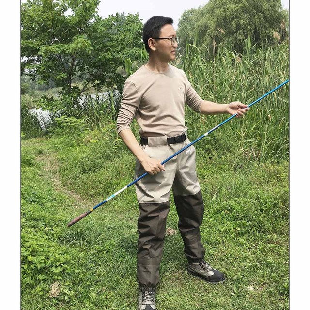 Fishing Waders Hunting Suit 3 Layer Waterproof Wading Pants with Neoprene Boots Waist or Chest Fly Fishing Clothes Overalls 5