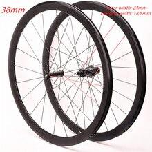Koło rowerowe zestaw drogowy 700C rower szosowy ze stopu aluminium przód dwa tylne cztery łożyska 38mm koła rowerowe koła clincher
